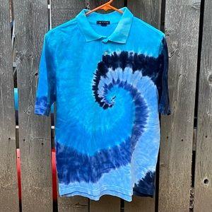 Lands' End Tie-Dye Pole Shirt XL (18-20)